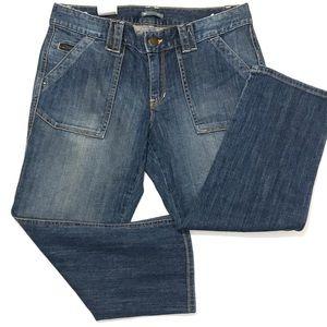 GAP CAPRI denim pants size 8 zipper pocket